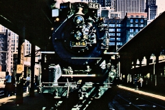 The Nickel Plate Road operated a special excursion between Fort Wayne and Chicago on June 30th, 1957. Images from this trip provided the inspiration for our Joliet Rocket artwork.