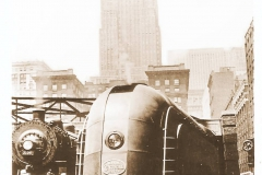 """The New York Central """"Mercury"""" at LaSalle Street Station."""