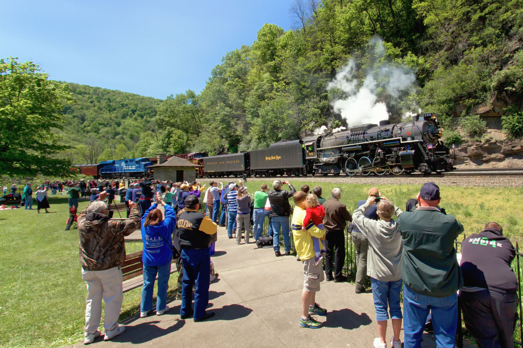 NKP #765 Excursion Eastbound on Horseshoe Curve Sunday 5-26-13