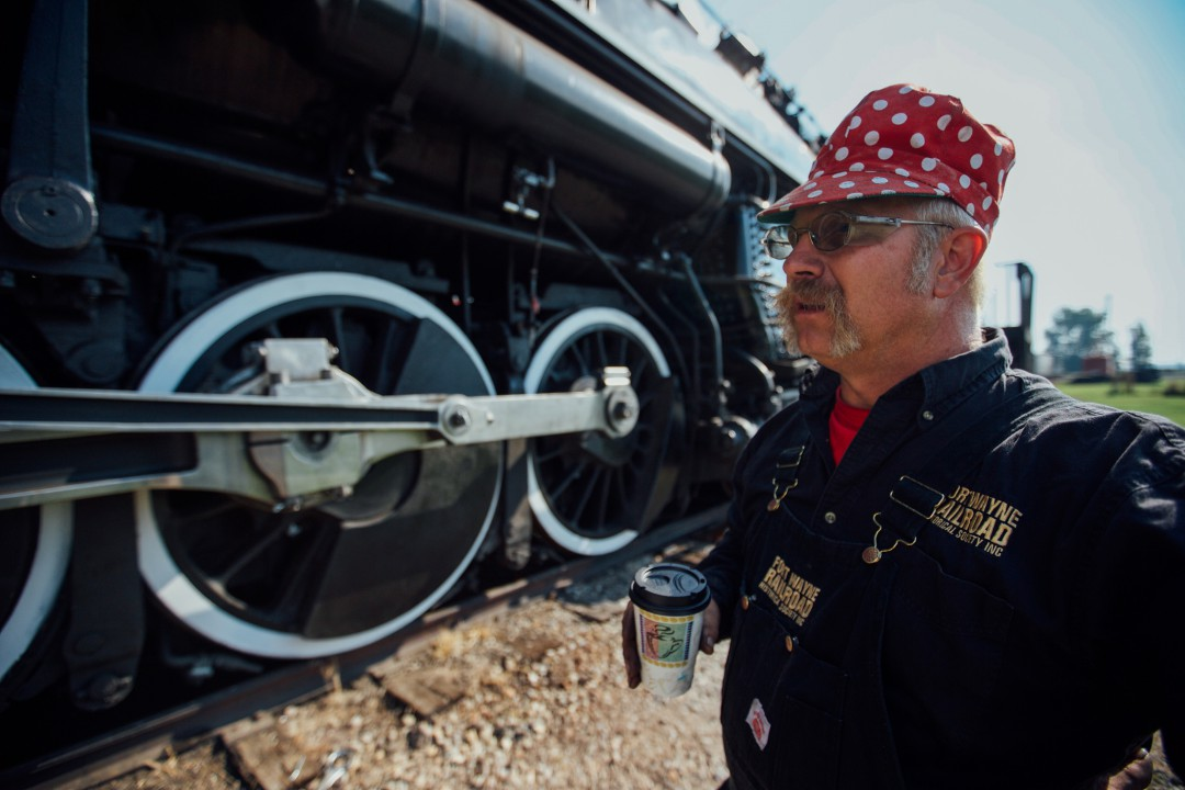 Ohio residents Brad Taylor and his family regularly volunteer throughout the year on Nickel Plate Road steam locomotive no. 765, based out of Fort Wayne, Indiana.