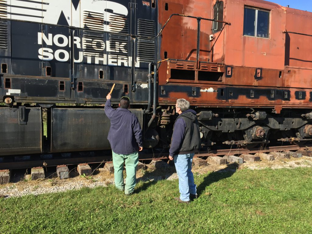 Preliminary inspections reveal the engine to be a good candidate for restoration.