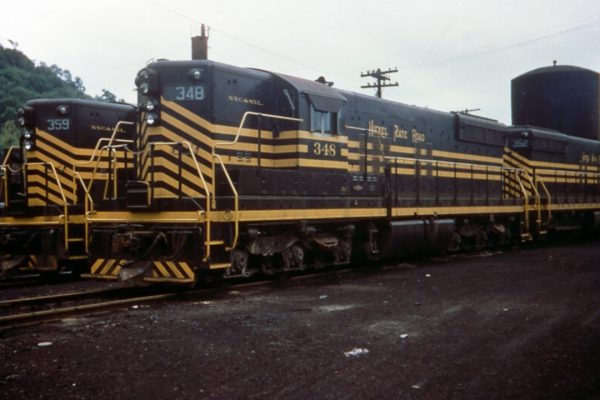 Sister locomotives to 358 show off the Nickel Plate's distinctive paint scheme.