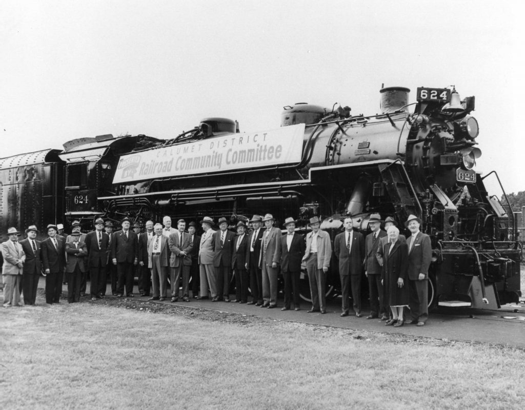 624 during the dedication ceremony in September, 1955.
