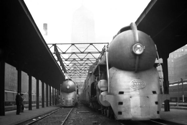 As the western terminus for its famous passenger trains, the New York Central's iconic locomotives were easily spotted on the station platforms. John W. Barriger III photo.