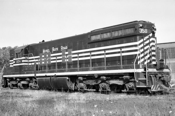 NKP 358 spent much of its time operating on the Wheeling District, and was photographed here in Zanesville, Ohio in this Paul Dunn photo.